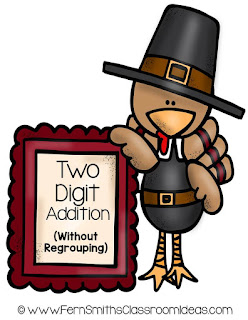 Thanksgiving - Two Digit Addition Without Regrouping Center Game