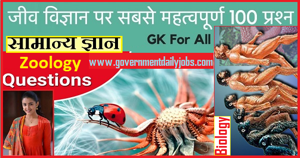Zoology General Knowledge 100 question & answers