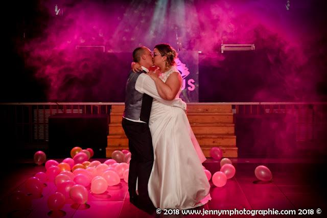 photo ouverture de bal couleur rose