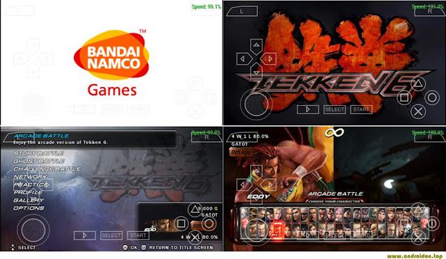 Gambar tampilan layar saat menjalankan game tekken 6