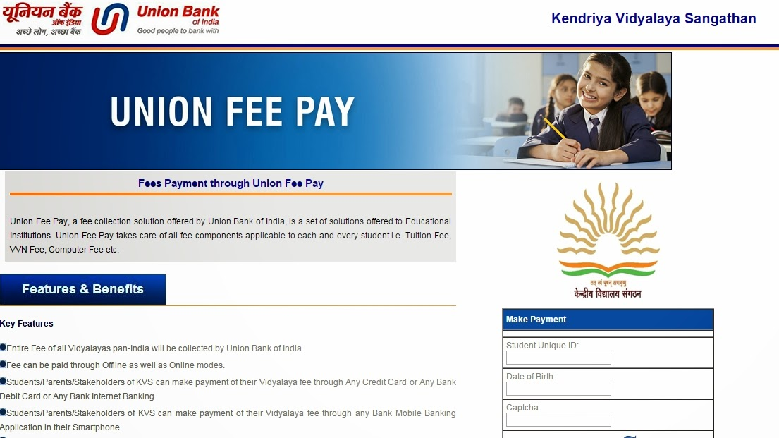 Frequently Asked Questions Kendriya Vidyalaya Students' Fee Collection