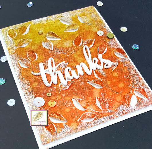 Thanks (Fall inspired thank you card)