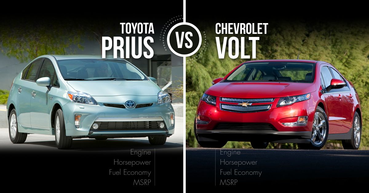 2016 Toyota Prius Vs Chevrolet Volt Video Test