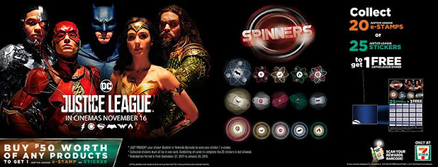 7/11 Special edition Justice League spinners