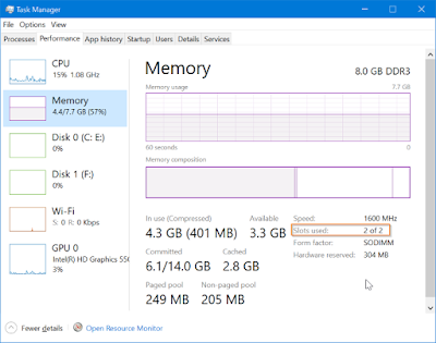 How To Check Empty RAM Slots On Windows 10