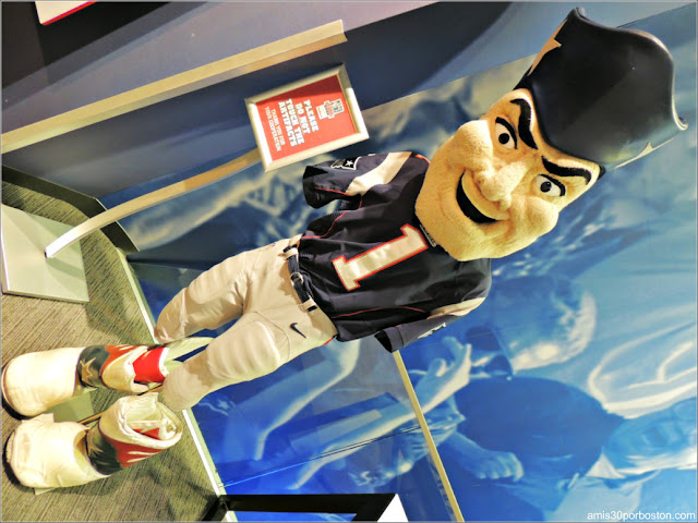 Pat Patriot en el Gillette Stadium en Foxborough, Massachusetts