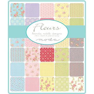 Moda Fleurs Fabric by Brenda Riddle Designs for Moda Fabrics