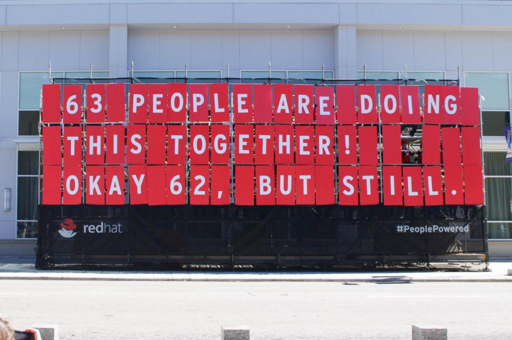 Red Hat Constructs A People-Powered Billboard