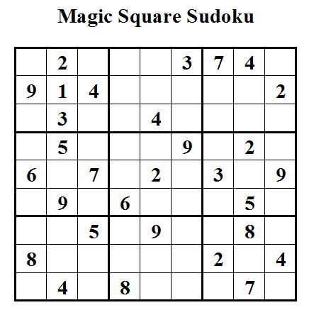 Magic Square Sudoku (Daily Sudoku League #28)