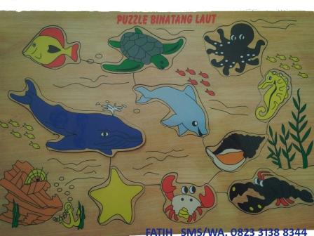 Puzzle Dari Kayu Binatang Laut