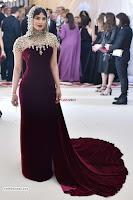 Priyanka Chopra in Maroon Velvet Gown at 2018 MET Costume Insute Gala ~  Exclusive 13.jpg