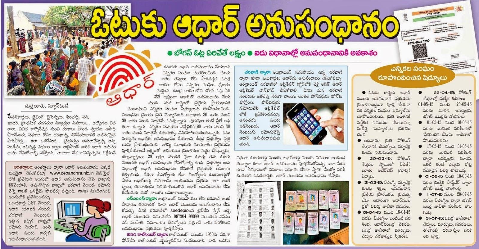 Link Voter ID with Aadhaar Card