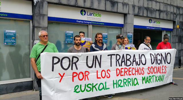 protesta ante Lanbide