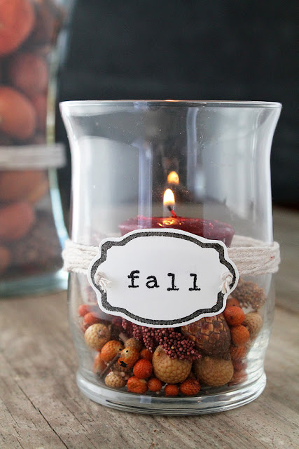 Decorated Vases for Fall with Custom Made Stamps! Learn how to make your own custom stamps at LoveGrowsWild.com