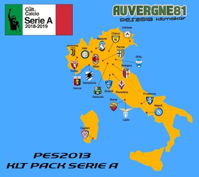 PES 2013 Serie A TIM Kitpack Season 2018/2019 by Auvergne81 Kitmaker