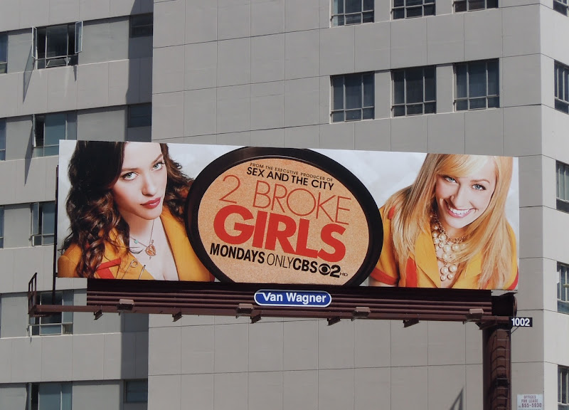 2 Broke Girls CBS billboard