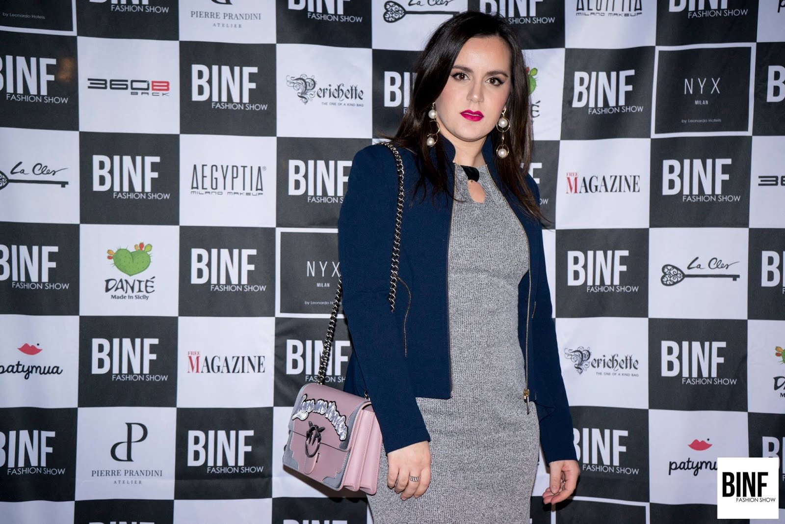 Press BINF Fashion Show - Milano Fashion Week 25 febbraio 2018 (Italy) Marzia Amaranto