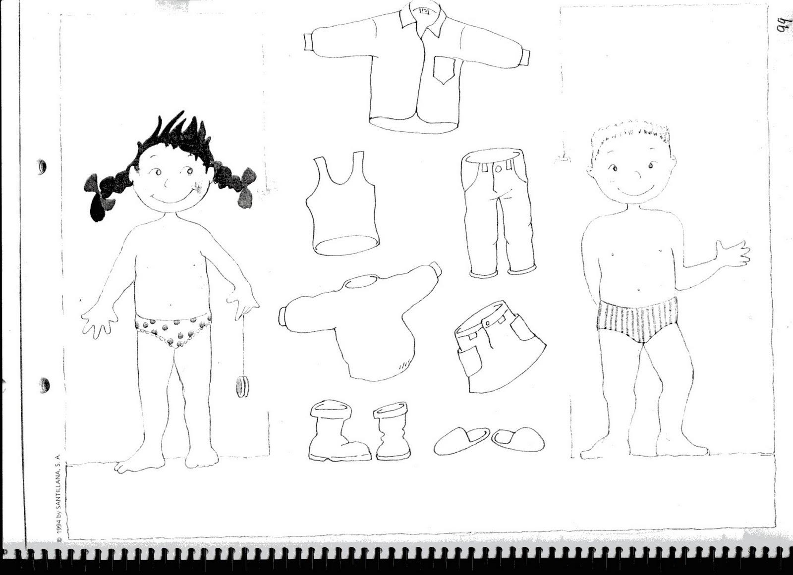 Fichas De Ingles Ficha Clothes 7 Colour And Cut The Clothes