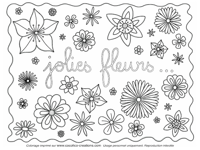 cocolico-creations: Mercredi Coloriage # 11, Jolies fleurs...