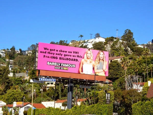 Barely Famous series premiere billboard