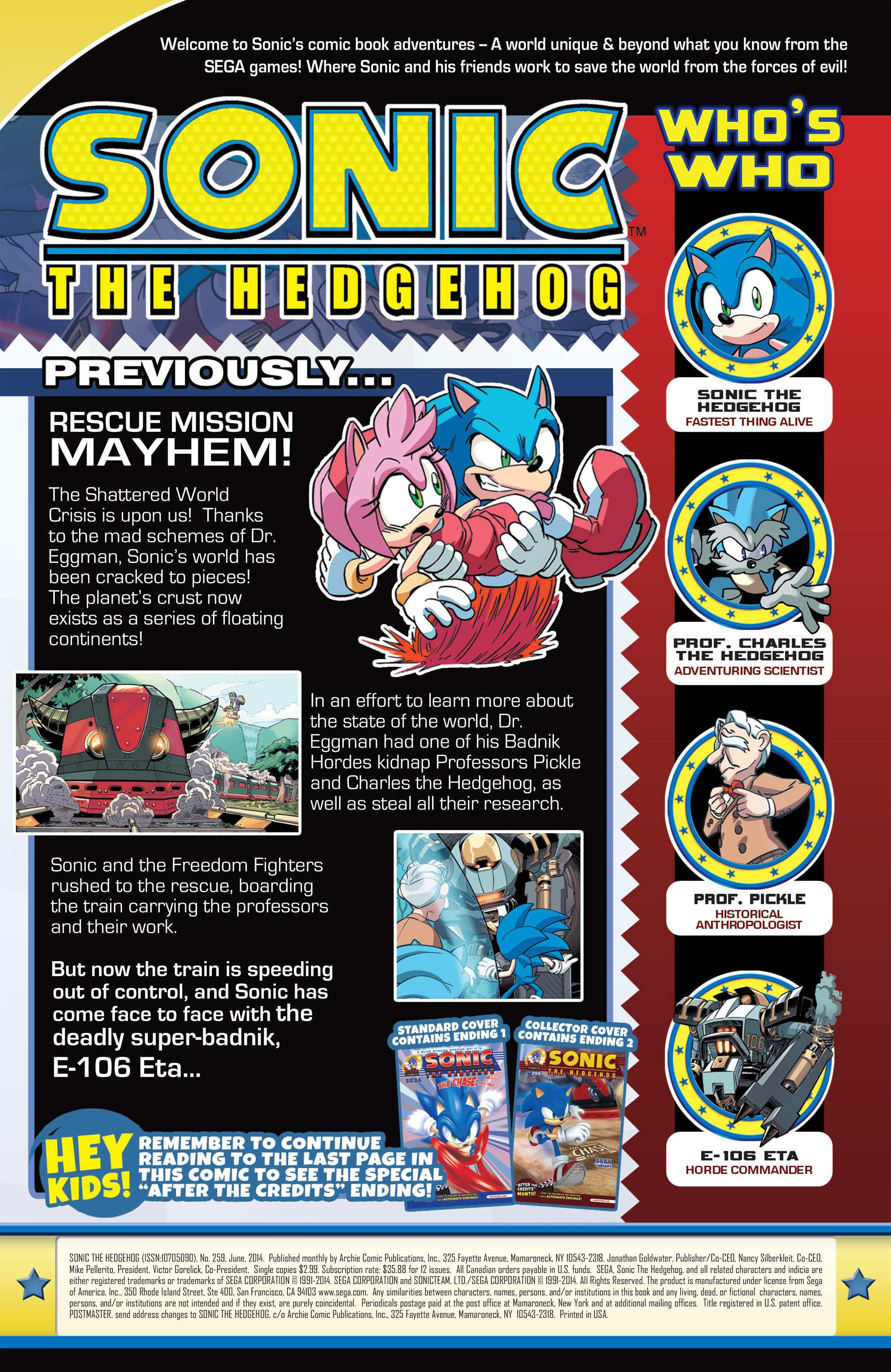 Read online Sonic The Hedgehog comic -  Issue #259 - 2