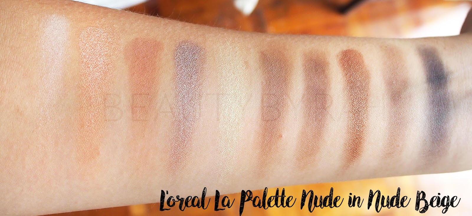 L'oreal la palette nude swatches in nude beige