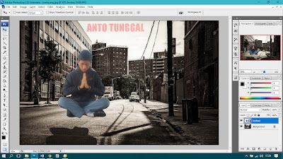cara membuat foto melayang dengan photoshop