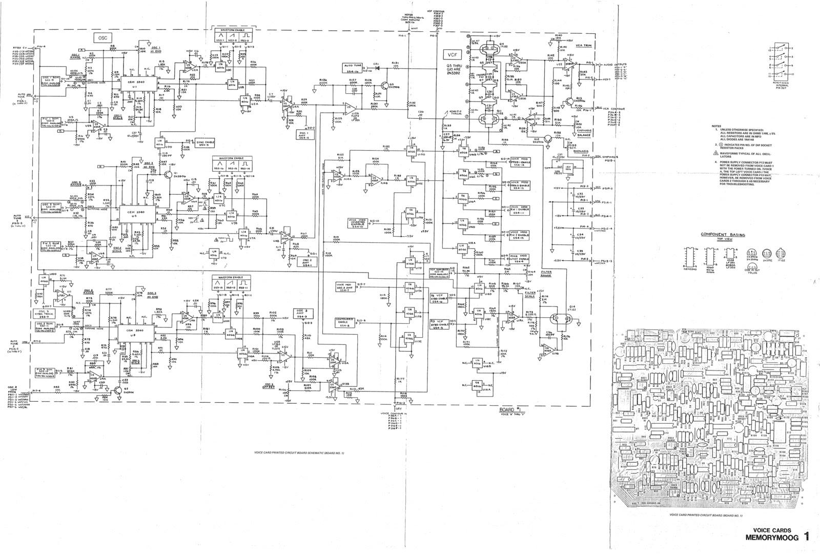 Matrixsynth Memorymoog Schematics Circuit Board