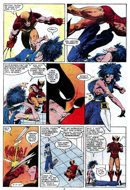 X-men v1 #214 marvel comic book page art by Barry Windsor Smith