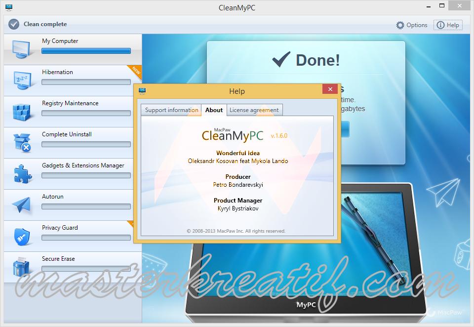 Clean My PC 1.6.0 Full Crack | MASTERkreatif