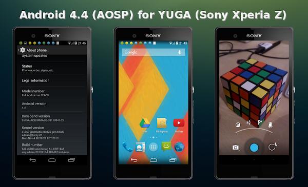 Android 4.4 (AOSP) for YUGA (Sony Xperia Z)