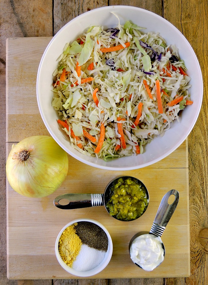 This Low-Carb Dill Pickle Coleslaw is the perfect low-carb, keto-friendly BBQ side dish! #BBQ #lowcarb #keto #sidedish #easy #recipe | bobbiskozykitchen.com