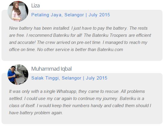 Testimonial Pelanggan Bateriku.com