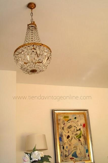 KP Tienda Vintage Online Lmpara de lgrimas francesa  French chandelier