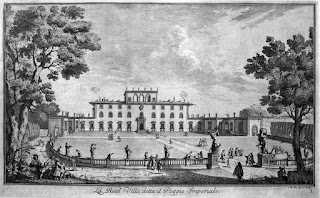 The Villa del Poggio Imperiale, as depicted by the 18th century Florentine printmaker Giuseppe Zocchi