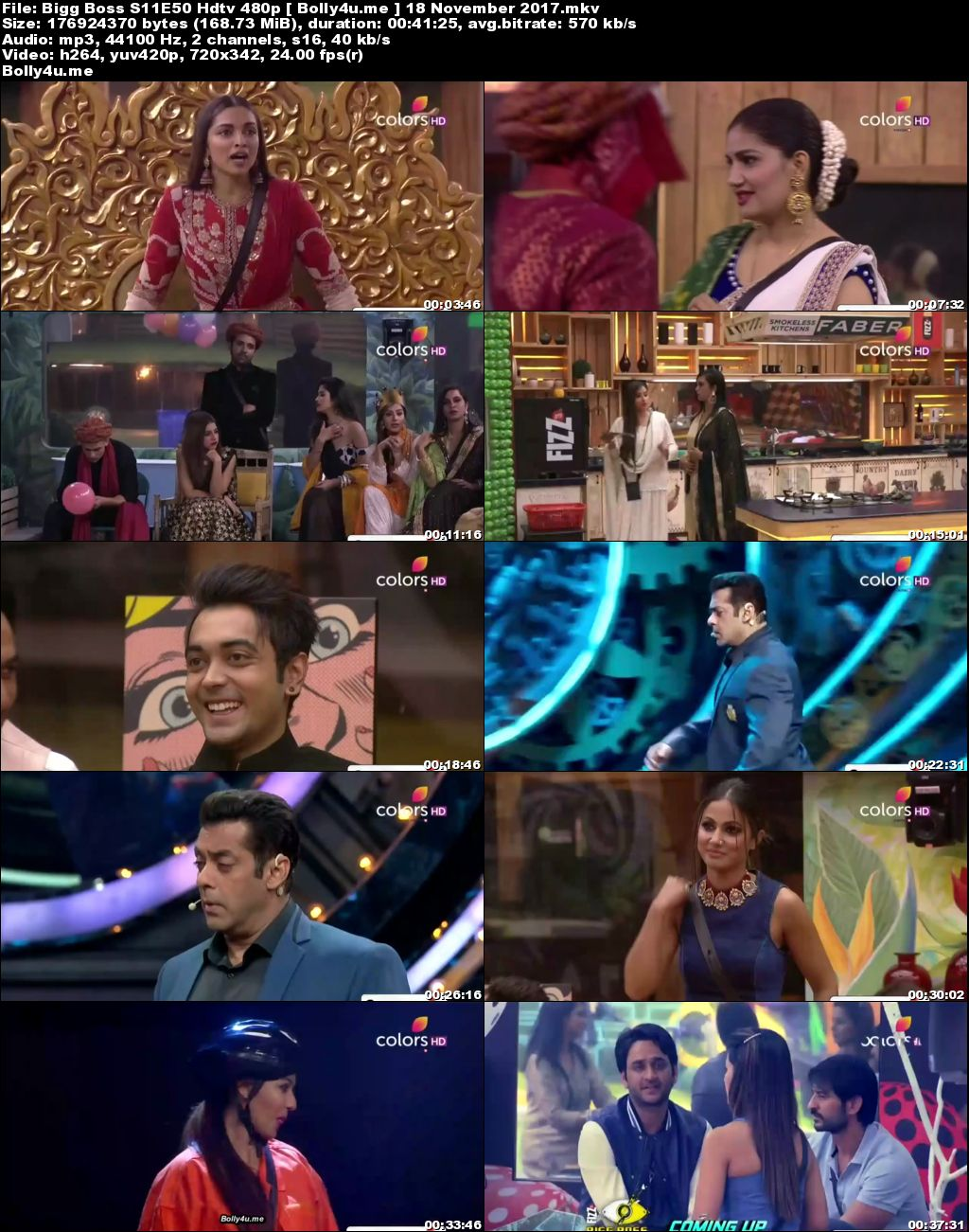 Bigg Boss S11E50 HDTV 170MB 480p 19 November 2017 Download