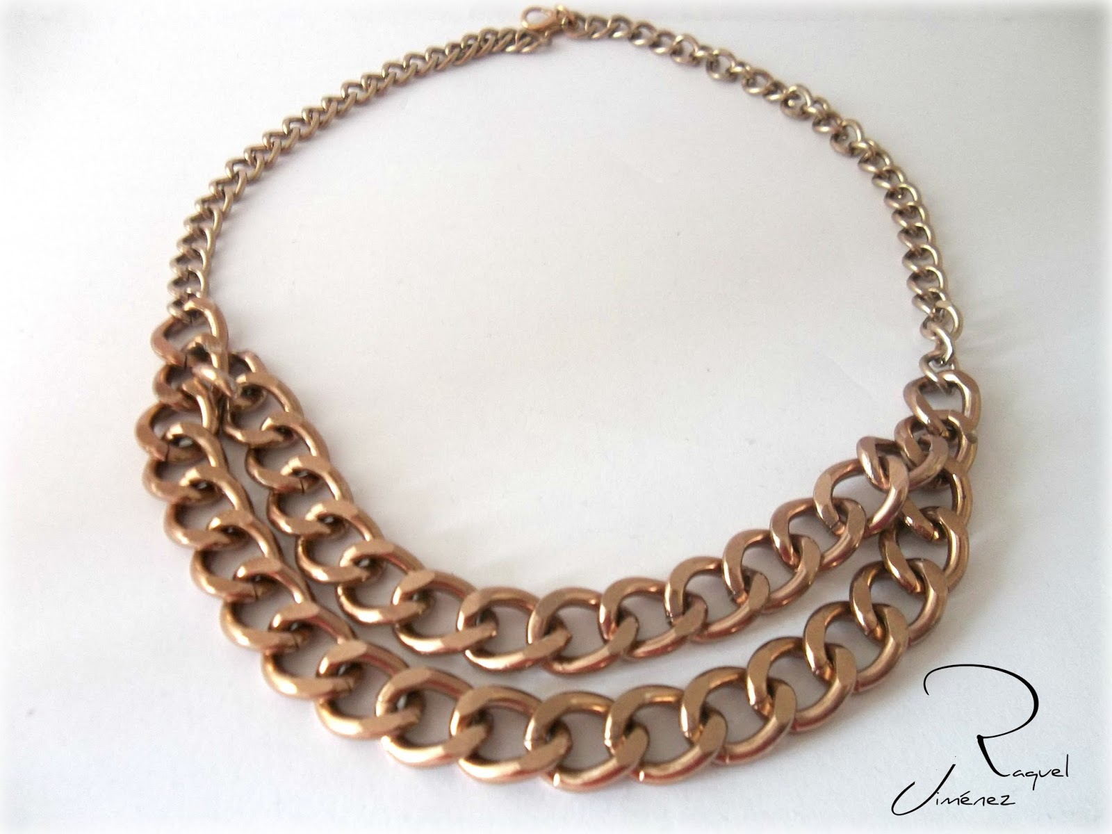 collar doble cadena cobre