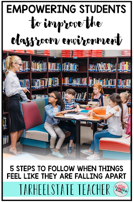 Grab two free classroom management strategies to improve your whole-group classroom environment. Our classroom management and student behavior often gets tested midyear. The honeymoon is over and our students may tire during the stretch to spring break. Read about how I addressed our classroom behavior issues. Behavior management in the classroom doesn't have to have you losing your mind! Perfect strategies for empowering 3rd, 4th, and 5th graders to become partners in improving the classroom experience for everyone.