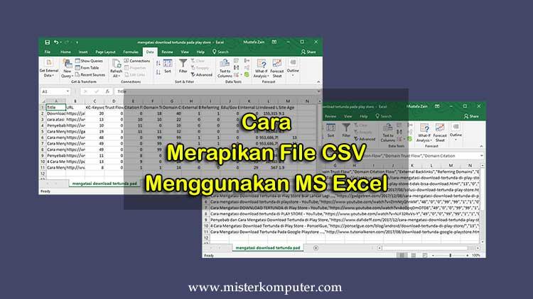 Cara Merapikan File CSV Yang Dibuka Menggunakan Excel