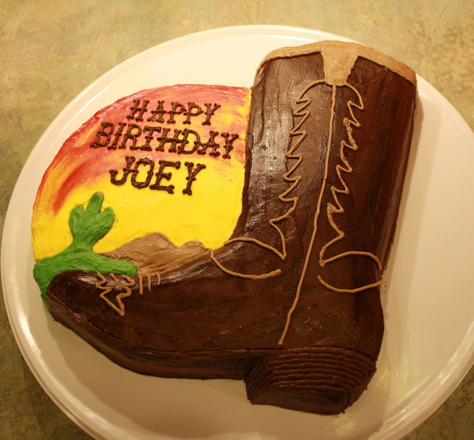 Party Cakes Cowboy Boot Cake For Joey
