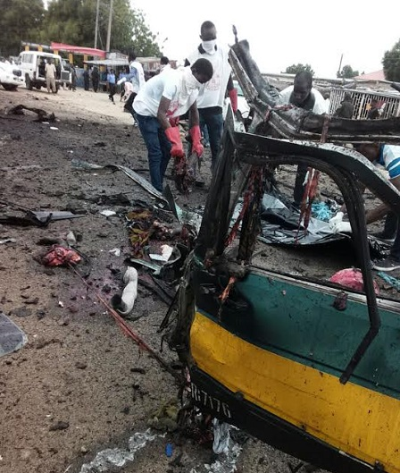 BREAKING: Many Feared Dead As Bomb-blast Hit Muna Maiduguri Again; See Photos