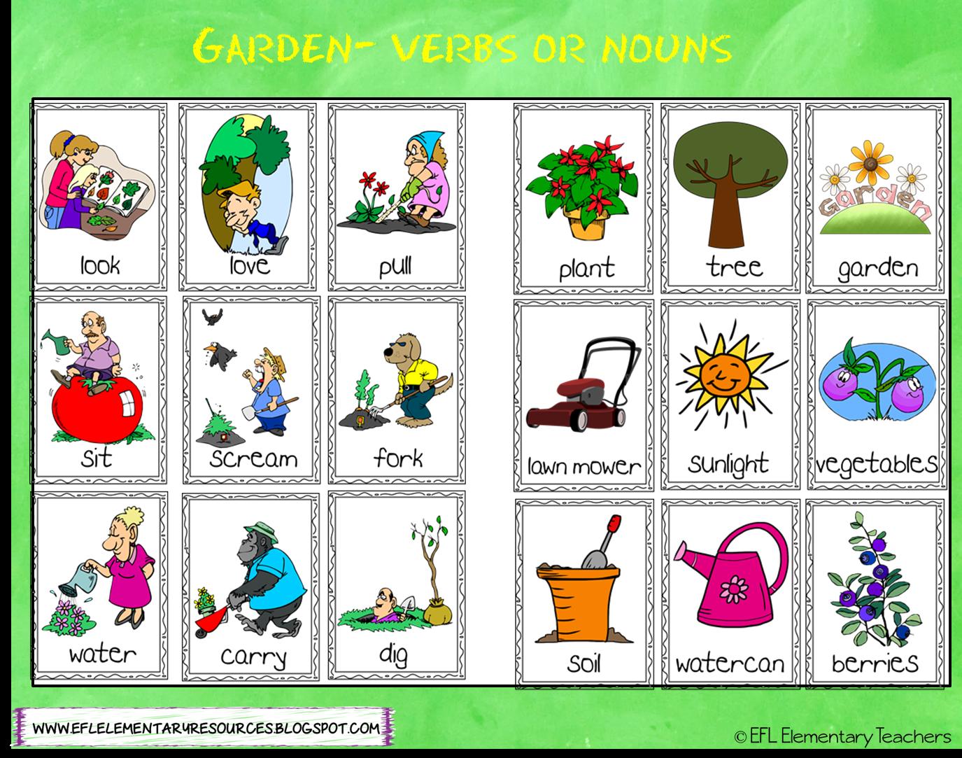 Efl Elementary Teachers Nature Or Garden Theme For