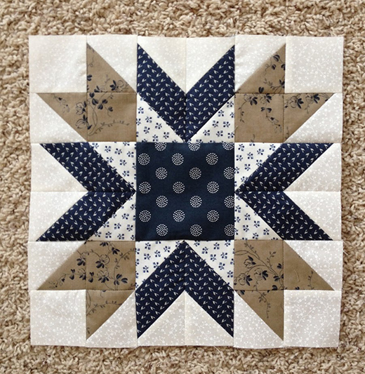 Blueberry Pie Quilt Block Designed by Wendy Russell of Patchwork Square