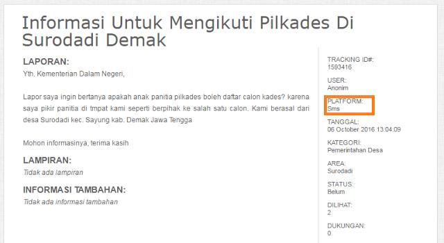 Salah satu contoh laporan Jika Anda Lihat PNS Lakukan Pungli