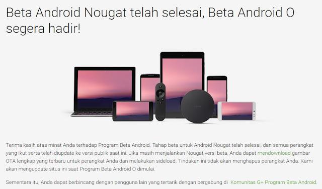 Google buka pendaftaran uji coba Android O, alias Android OREO
