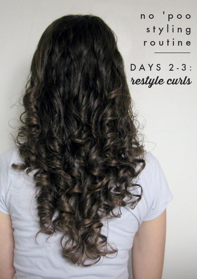 How to Style Curly No 'Poo Hair