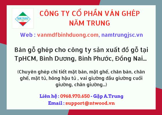Bán gỗ ghép cho công ty sản xuất đồ gỗ tại TpHCM, Bình Dương, Bình Phước