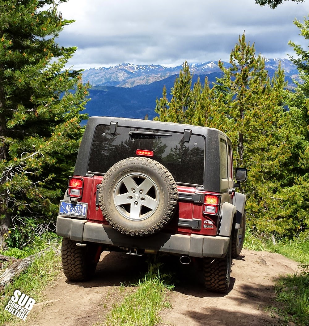 Jeep Wrangler off road in Liberty, Washington
