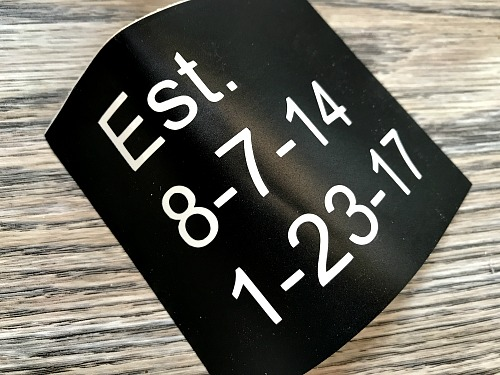 vinyl birthdates cut on silhouette machine