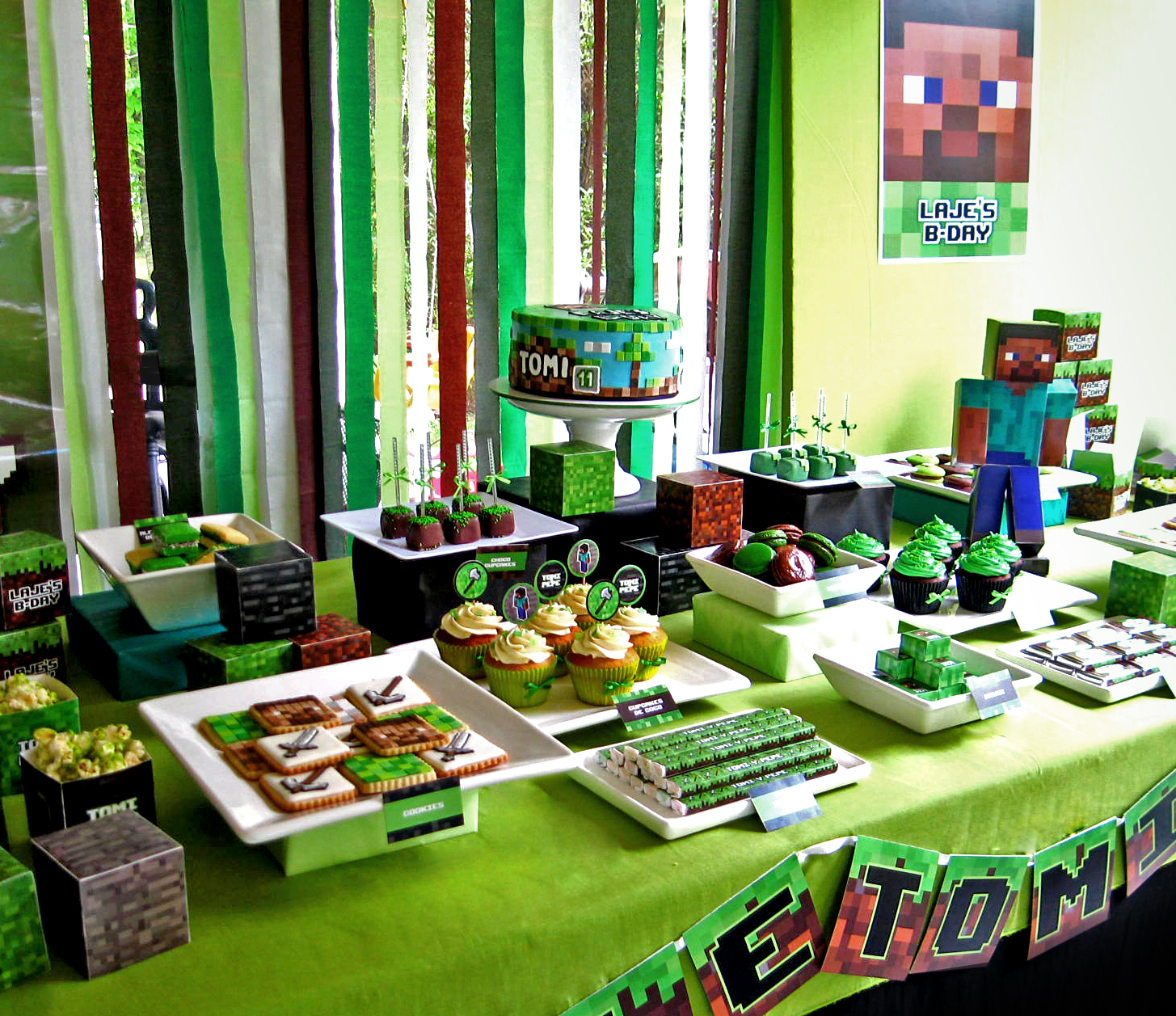 Fiestas infantiles decoradas con minecraft 2 - Ideas decoracion fiesta ...